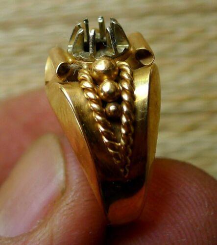 Bague Or 18 Carats Bijou Ancien 6,07g Fondre Antique French 18K Gold Ring  | eBay
