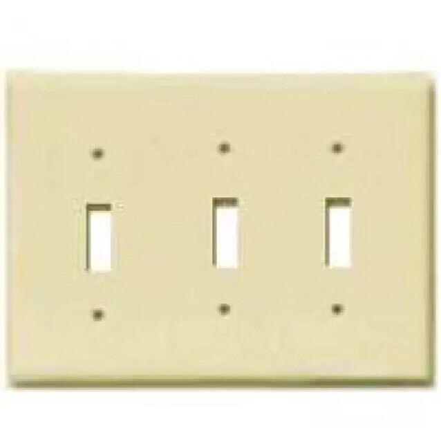 Cooper Wiring 2141v Box 3 Gang Standard Switch Plate Ivory For Online Ebay