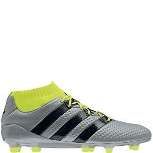 cheaper 96a78 d198a Details about adidas ACE 16.1 Primeknit FG Silver/Black Soccer Cleats  (S76469) - SoccerGarage