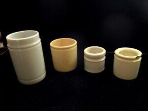 Liberal 4 Antike Salbentiegel Keramik Porzelan Feld Apotheke Salbentöpchen Um 1910 Den Speichel Auffrischen Und Bereichern Sammeln & Seltenes Flaschen & Gefäße