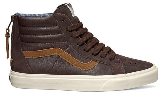 VANS Sk8 Hi Zip Ca Leather Nubuck Coffee Bean Sz 10 Brown for sale ... 078360924427