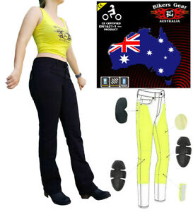 AUSTRALIAN-Bikers-Gear-Ladies-boot-cutt-Motorcycle-Jeans-with-DuPont-Kevlar