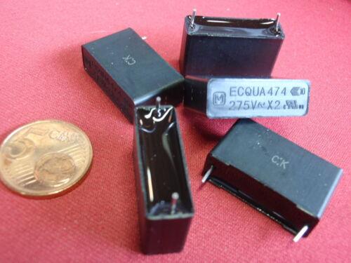 Condensateur Mk 0,47µf 275v ~ 26x8x14mm rm = 22mm 2x 25115 Rare 470nf