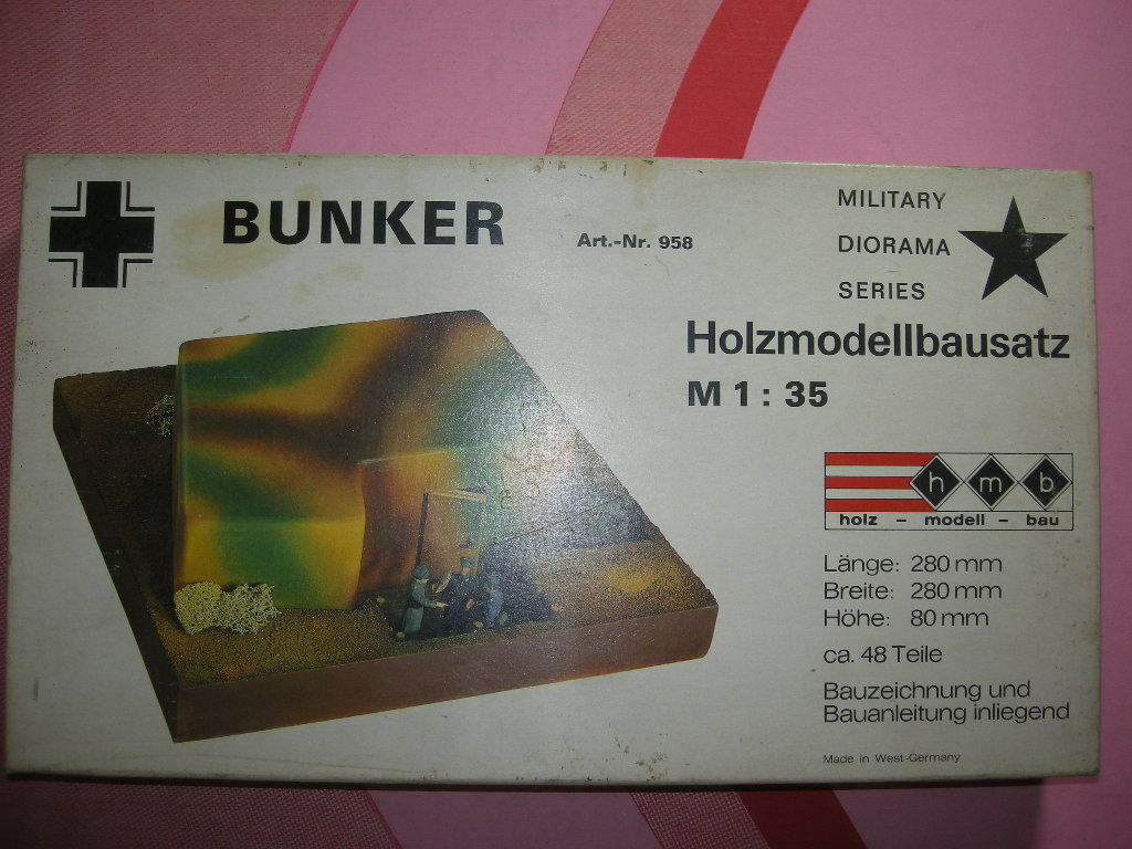 Holzmodellbausatz M 1 35 Bunker Military Diorama HMB holz modell bau