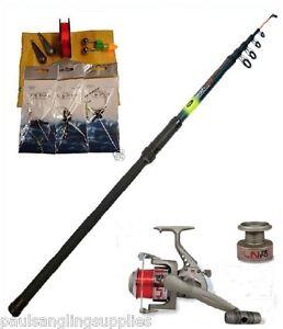 Sea fishing beach pier rock starter set kit telescopic for Dicks sporting goods fishing poles