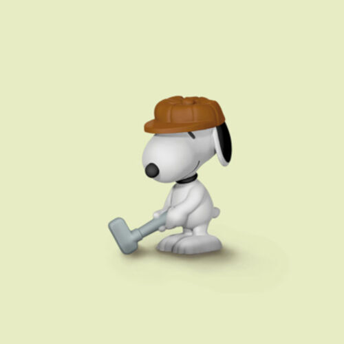 """22077 Schleich-New with FLAGS! /""""Golfer Snoopy/"""" New with Tag!"""