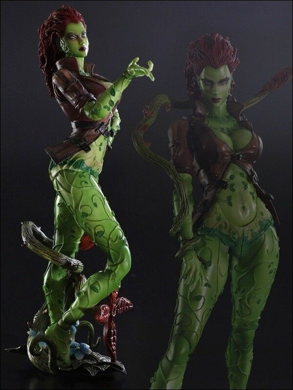 Authentic Poison Ivy Arkham City Square Enix Play Art Kai Action Figure Bat Kni