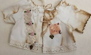 New-Jacket-IN-Shabby-Style-For-Approx-13-13-16-15-11-16in-Bears-Or-Doll