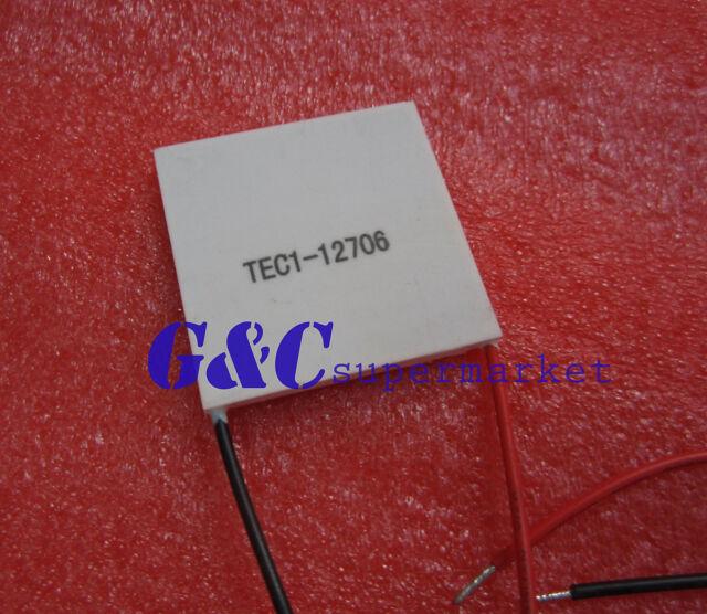2PCS TEC1-12706 Heatsink Thermoelectric Cooler Cooling Peltier Plate  12V 60W M3