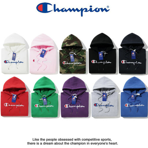 Women/'s Men/'s Classic Champion Hoodies Embroidered Hooded Sweatshirts Outwear