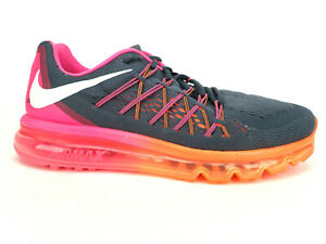 Details about Nike Air Max 2015 Women's Running Shoes Gray Pink Orange 698903-002 Women's 10