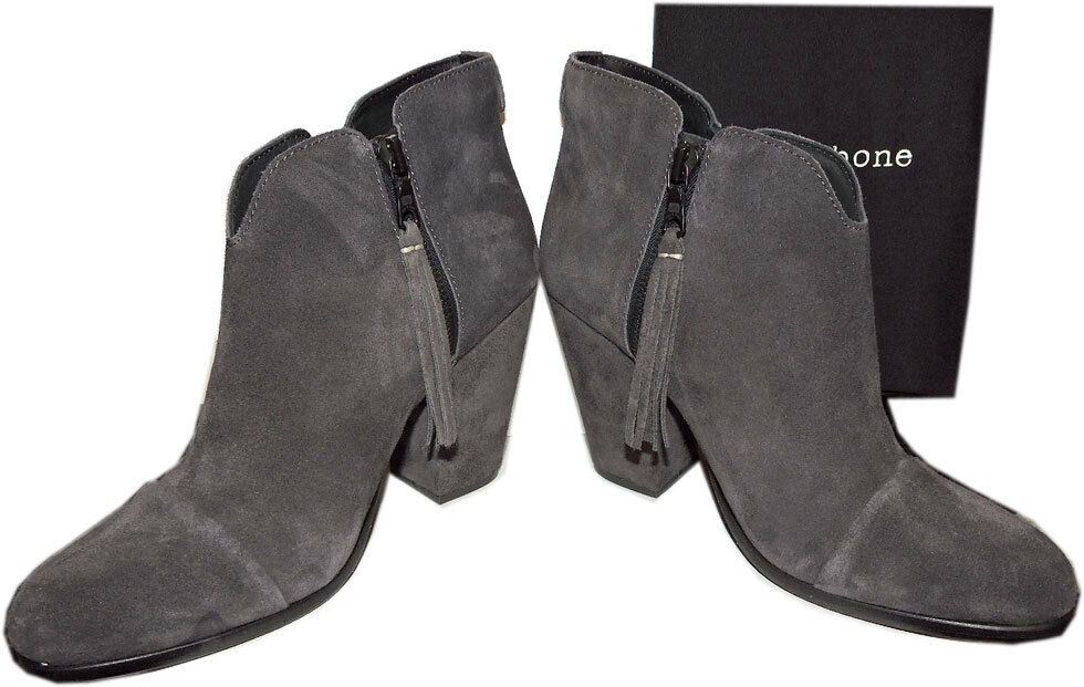 495 Rag & Bone MARGOT Boots Double Zip Ankle Booties Heel shoes 39 - 8
