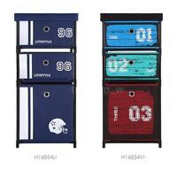 Fabric 3-drawer Home Office Shelf Storage Box Cabinet Organizer Standing W1z3