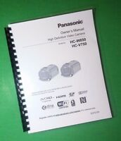 Laser Printed Panasonic Video Hc-v750 Hc-w850 Manual User Guide 220 Pages