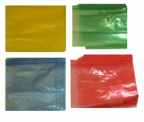 64 Colored Red Blue Green Yellow Zip Lock Food Storage Resealable Organization