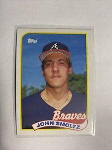 1989 TOPPS #382 JOHN SMOLTZ RC BRAVES HOF