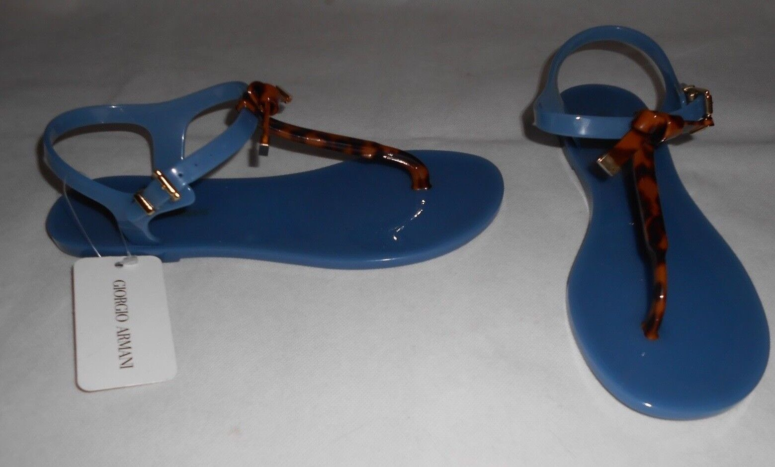 New Emporio Armani Bow Logo Jelly Sandals bluee UK6,5  EU40
