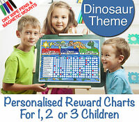 Personalised 1 2 or 3 Childrens Kids Large Reward Charts Boys Dry Wipe FREE GIFT