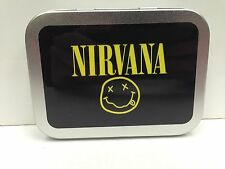 Nirvana, Rock Band Music Classic Cigarette Tobacco Storage 2oz Hinged Tin