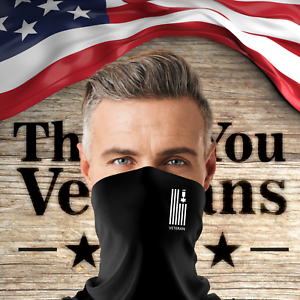 Veteran Neck Gaiter Buffs Face Cover Washable Breathable Soft 4 Way For Men