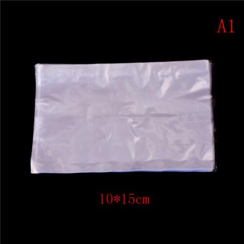 100Pcs Clear PVC Heat Shrink Wrap Bag Film Seal Packing Gift Bags 3 Sizes Pip Z0