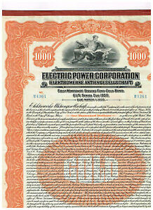 Electric-Power-Corp-1925-1000-Gold-Bond