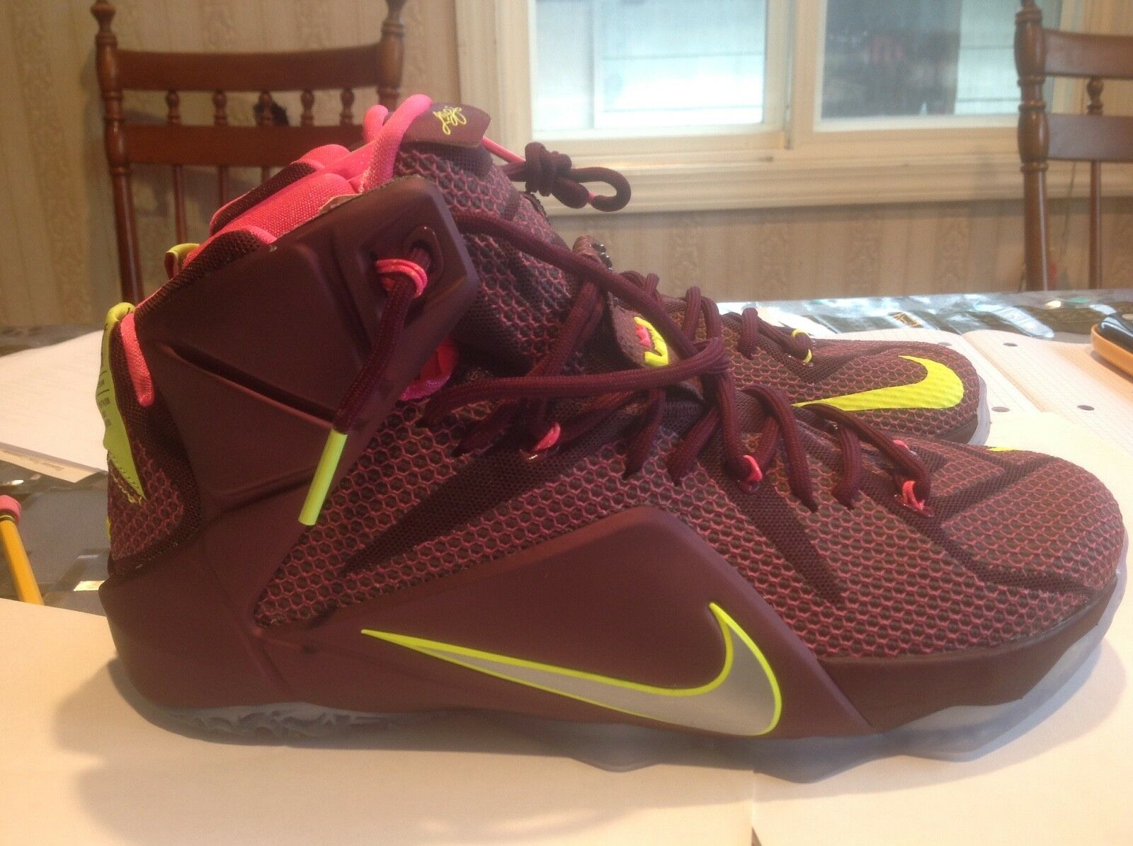 NEW Nike Lebron Collection Basketball men's 10.5 Shoes Merlot/Silver 684593-607