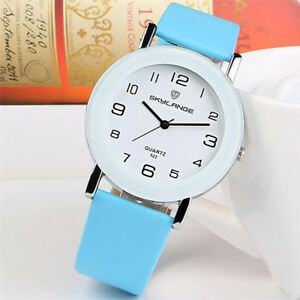 Fashion-Women-039-s-Stainless-Steel-Leather-Strap-Analog-Quartz-Wrist-Watch-Gift