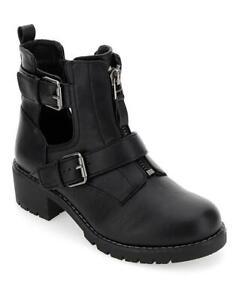 LADIES-BLACK-E-EEE-EXTRA-WIDE-FIT-BUCKLE-CALF-ANKLE-BOOTS-COMFY-SHOES-SIZES-4-9