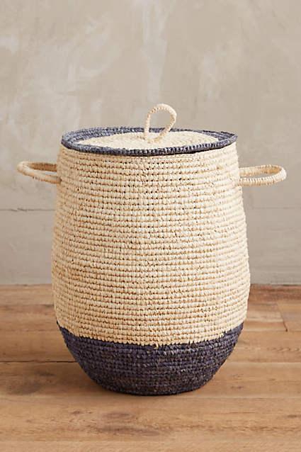 New Anthropologie Sea Isle Basket Basket Basket Blau trim - Sold out 676673