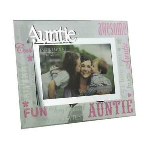 Glass-6-x-4-Photo-Frame-with-Mirror-glass-amp-Glitter-Letters-Auntie