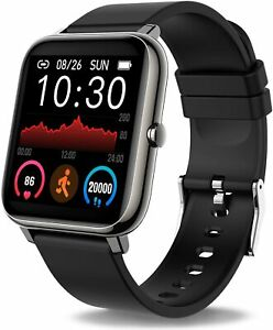 Donerton Smart Watch, Fitness Tracker 1.4 for Android Phones, Black