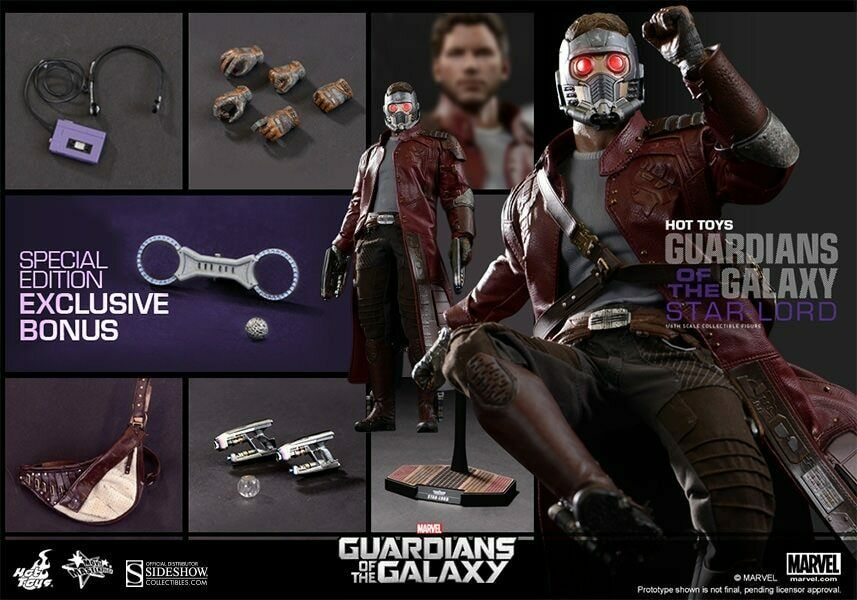 EXCLUSIVE HOTTOYS MMS255 STAR LORD 1 6 Guardians of the Galaxy Star Lord Special
