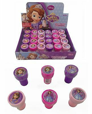(24ct) Sofia the First Stamps Stampers Self-inking Birthday Girl Party Favors