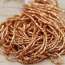 """10/0 2CUT Metallic Gold Terra Color Czech seed beads - 1 hank - 12/20"""""""