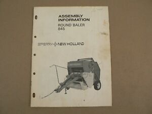 Sperry-New-Holland-Round-Baler-845-Assembly-Information-Owners-Manual-1976