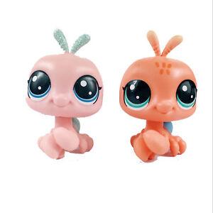 2Pcs-LPS-Littlest-Pet-Shop-Sparkle-Spectacular-Crab-amp-Shyly-Seashore-52