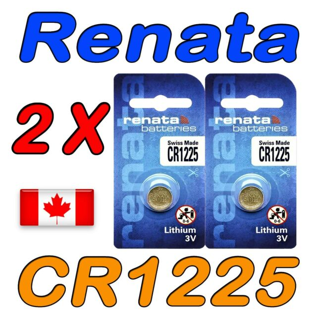 2 Pcs Renata CR1225 Lithium Cell Battery 1225 3.0V Exp. 2024
