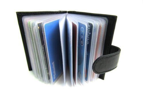 RFID PROTECTED Morbido Vera Pelle Nera Porta Carte di credito wallet borsa