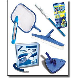 Pool Maintenance Kit Above Ground Swimming Supplies Cleaning Skimmer Vac Head Ebay