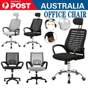 Black Office Chair Gaming Computer Chairs Mesh Back Executive Seating Study Seat Ebay