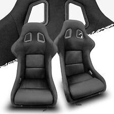 Wider Black Fabric Leftright Fiberglass Pole Position Recaro Style Racing Seats