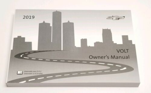 2019 CHEVROLET VOLT OWNERS MANUAL USER GUIDE PREMIER LT V4 1.5L FWD 1-SPEED A//T