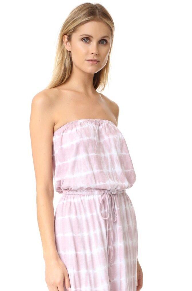 NWT Soft Joie SZ M Cahya B Tie Dye Dress Medium Drawstring Pale Lilac