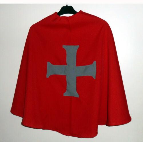 schwarzer Ritter Umhang Cape Kostüm Fasching Karneval anthrazit Ritterumhang