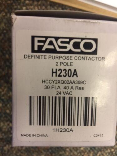 H230a Fasco Definite Purpose Contactor New Drives