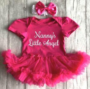 4ab60940003c La imagen se está cargando Bebe-Nina-Princesa-Vestido-Tutu-Mameluco -Angel-nannys-