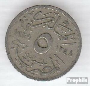 Egypt-KM-No-346-1929-VERY-NICE-COPPER-NICKEL-1929-5-Milliemes-Fuad-I