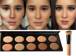 10-Color-Face-Cream-Contour-Kit-Concealer-Palette-Makeup-Set-Highlighter-Brush
