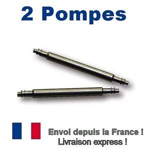 Lot 2 Pompes 18 Mm Anse Tige Axe Barrette Attache Montre Bracelet Nato Envoi 24h Chaud Et Coupe-Vent